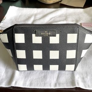 Kate Spade ♠️ accessories bag! Checkered pattern!